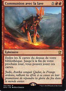 MTG-Magic-Les-dragon-de-Tarkir-Communion-avec-la-lave-Rare-VF