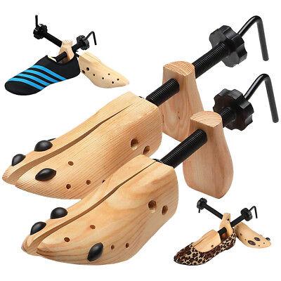 Adjustable Mens 2-Way Shoe Stretcher Expander Shaper Tree US Size 8-13 Wooden
