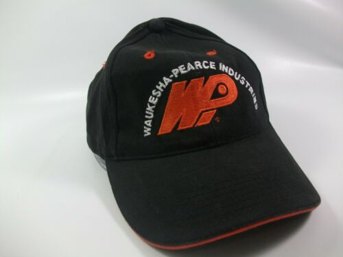 Waukesha Pearce Industries Hat Black Strapback Bas