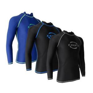 Mens Long Sleeve Top Shirt Swimsuit Wetsuit Rash Guard Surf Swimming ... 67d5a35b6