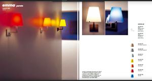 Viabizzuno emma vetro giallo lampada a parete applique e w