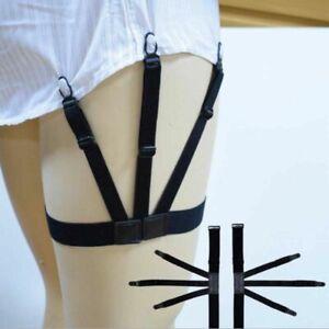 2PCS-Shirt-Stay-Titulaire-Clip-elastique-Ceinture-Garters-avec-dispositif-de-verrouillage-pour-Homme