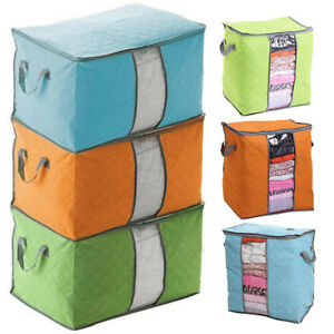 Foldable-Storage-Bag-Clothes-Pouches-Blanket-Quilt-Closet-Sweater-Organizer-Box