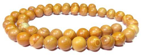 Holzstein 3 Wood Stone balles 8 mm Pierre avec une Structure en bois Perles Host