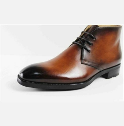 MEN NEW HANDMADE REAL LEATHER LEATHER LEATHER Stiefel HAND PAINTED LACE UP CHUKA Stiefel e4e269