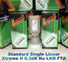 Single Standard Xtreme II Liner Ku Band FTA Satellite Dish LNB LNBF 0.3dB HDTV