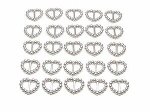 50-SILVER-PEARLISED-HEART-SHAPED-RIBBON-SLIDER-BUCKLES-FOR-WEDDING-INVITES