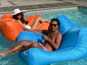 Image Is Loading Large Pool Beanbag Indoor Outdoor Lounge Sofa Floating