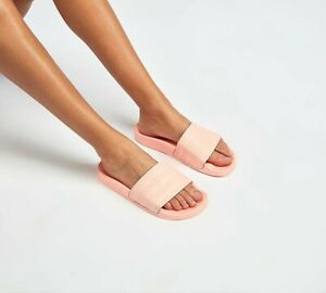 a4ce61f244db Image is loading Womens-Adidas-Adilette-Coral-Pastel-Slides-SF33-RRP-