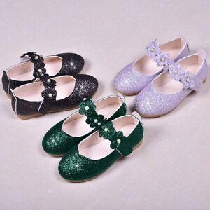 Children-Kids-Baby-Girls-Shoes-Flower-Bling-Student-Single-Dance-Princess-Shoes