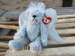 70bfae462e6 TY Beanie Baby STERLING Angel BEAR adjustable Wings approx 6.5