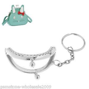 1PC Bronze Tone Metal Purse Bag Frame Kiss Clasp Lock With Handle B35598 GW