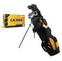 Wilson Ultra Men's Left Hand Complete Golf Club Set w/ Stand Bag + 15 Golf Balls