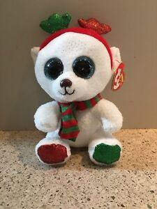 Ty Beanie Boo FROST the Polar Bear 6