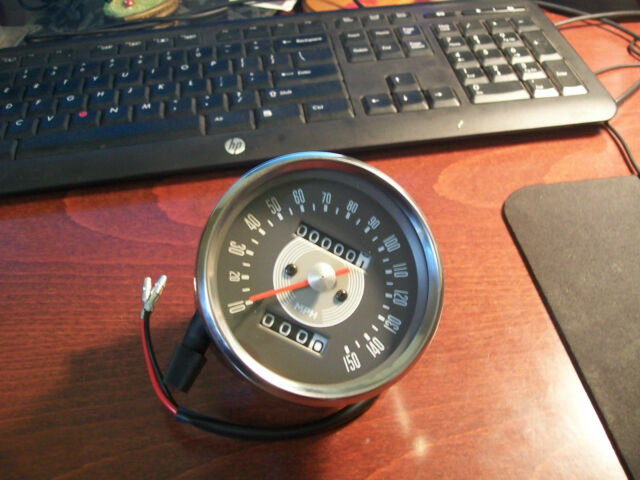Vintage Motorcycle Speedometer for Triumph T120 (grey face gauge)