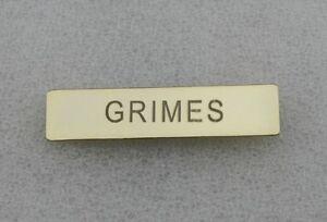 Details About The Walking Dead Grimes Name Tag Citation Bar
