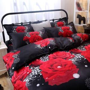 3D-Effect-Duvet-Cover-Sets-Pillow-Case-Sham-Floral-Printing-Double-Size-3pc-Kits