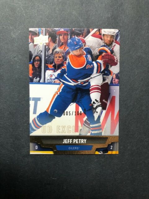 2013-14 Upper Deck UD Exclusives #162 Jeff Petry Edmonton Oilers 005/100