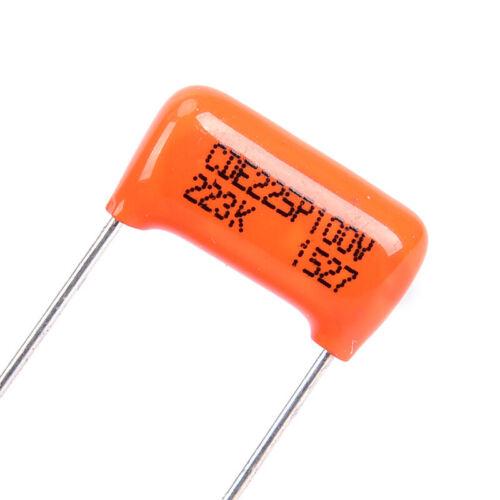 1 Stück Kondensator CDE225P 223 Karat 0.022UF 100 V Für E-gitarre Bass Cxj