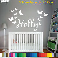 Personalised Name Wall Sticker Children Bedroom, Choose Font Colour and Theme!