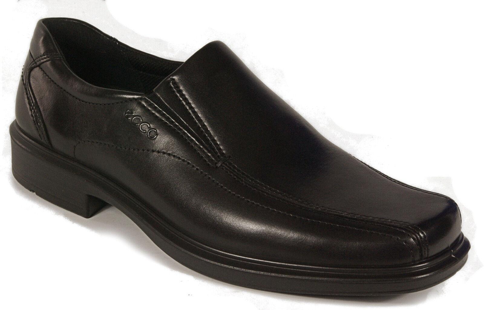 ECCO Schuhe Slipper Leder schwarz Mod. Helsinki Gummisohle Leder Slipper Wechselfußbett NEU 5446ca