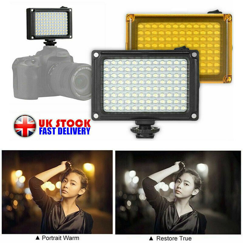 for DSLR Camera Dimmable Studio Light Photography Photo Video Lamp Rechargeable