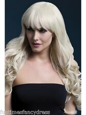 """Blonde Isabelle Long Curly Wig Professional Theatrical Quality 26"""" Fancy Dress"""