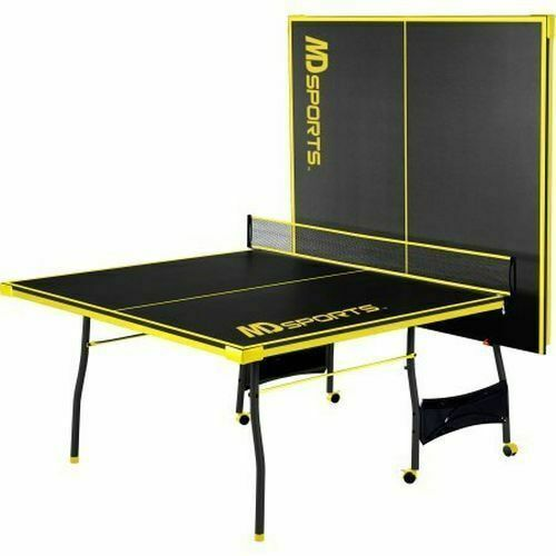 Official Size Outdoor//Indoor Tennis Ping Pong Table 2 Paddles and Balls Included