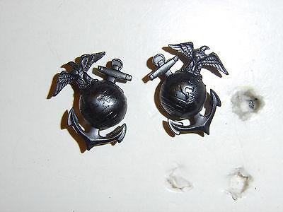 ega026p WW2 USMC Enlisted Man/'s EM Collar EGA/'s Eagle Globe Anchor pair R5C