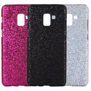 cheaper 4aa8d 9b985 Details about For Samsung Galaxy A8 A8+ 2018 Sparkle Bling PU Coated hard  case back cover