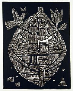 Untitled-1965-grande-linolschnitt-sigute-valiuviene-1931-LTU-firmato-a-mano