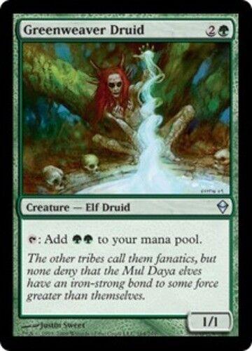 4 Greenweaver Druid ~ Near Mint Zendikar 4x x4 Playset UltimateMTG Magic Green C
