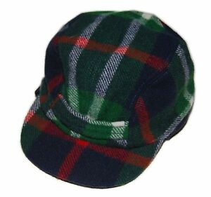 f05e7cad575 Polo Ralph Lauren Rugby Mens Wool Trappers Hat Cap Plaid Navy Green ...