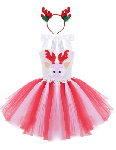 Girls Kid Fairytale Fancy Dress Halloween Christmas Cosplay Party Costume Outfit