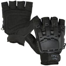 Valken V-tac Black Tactical Half Finger Paintball Gloves Medium Large MD LG Med