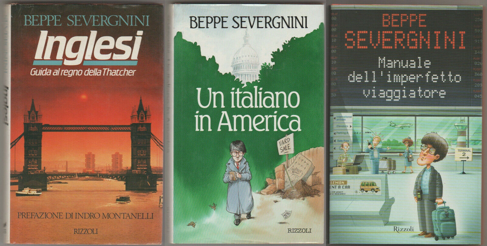 Un italiano in america + Inglesi + Manuale dell'imperfetto viaggiatore