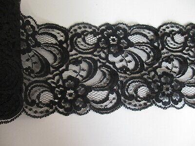 """3 Yard  Pretty Delicate Embroidered  Cotton Trim Black 1 1//4/"""" Wide"""