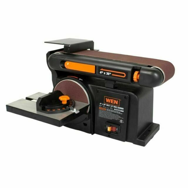 WEN 6502T 4 x 36 inch Belt and 6 inch Disc Sander with Cast