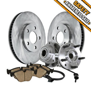 Details about Front Brake Rotors Hub Bearings Pads For 1998 1999 2000 -  2004 S10 Blazer Jimmy