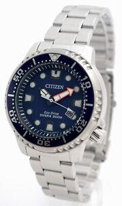 Citizen-ECO-DRIVE-PROMASTER-DIVER-039-S-Taucheruhr-Stahl-Kunststoffband-BN0151-17L