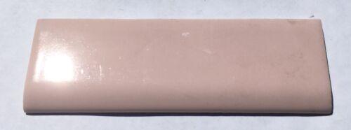 Surplus Shell Pink 2x6 Vintage Ceramic Bullnose Tile /'W/' for Wenczel per piece