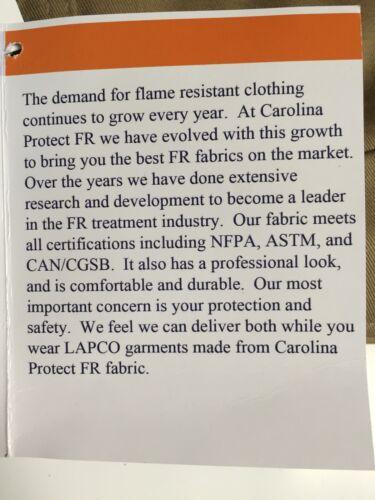"Lapco 9oz Flame Retardant Khaki Work Shirt 15 X 33/"" Medium"