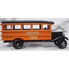 1927 All Wood Blue Bird #1 School Bus Replica