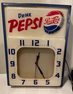 Vintage 1950's Pepsi Cola Drink Pepsi Clock