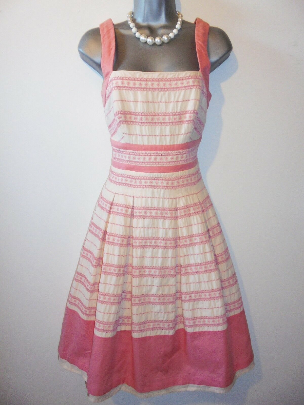 Stunning Coast Pale Pink Embroidered Tulle Evening Occasion Dress Size 10