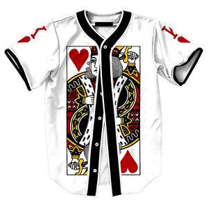 King-of-Hearts-Poker-Card-Mens-Baseball-Jersey-Raglan-T-Shirt-Team-Button-Tee