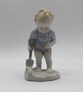 Boy-With-Shovel-Vintage-Porcelain-Figurine-Made-In-Japan