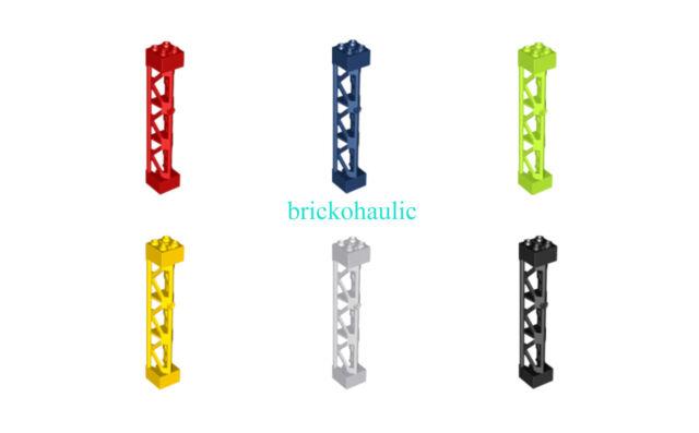 LEGO 10 New White Support 1 x 6 x 10 Girder Triangular Pieces