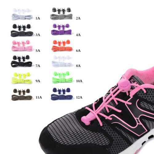 Unisex Adult Child Easy Lazy No Tie Elastic Polyester Shoe Laces Cool Shoelaces