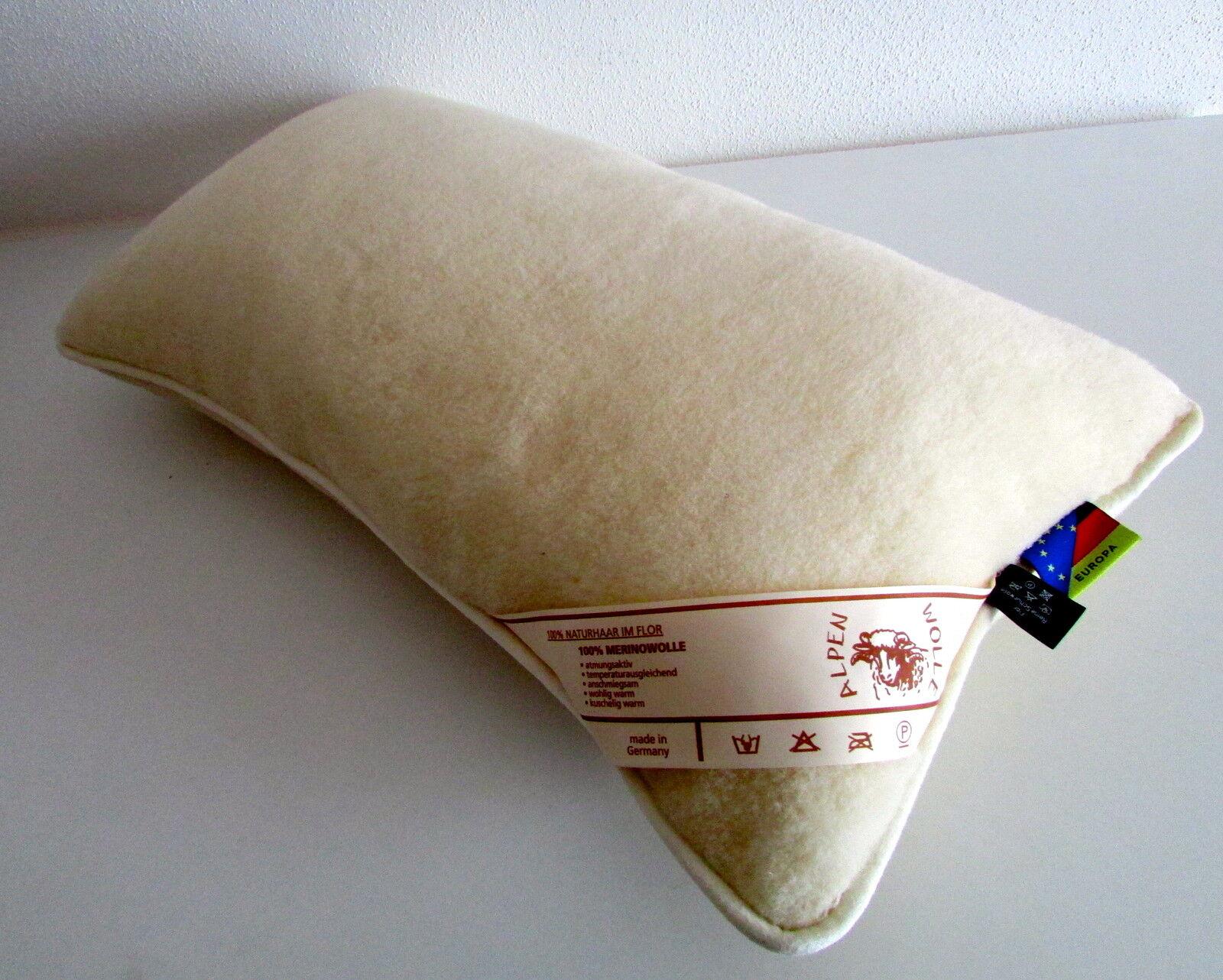 Cuscino Cuscino Cuscino poggiatesta di lana, per dormire 100% lana Merino Velour + Imbottitura 941543